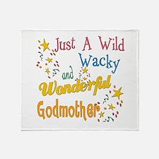 Wild Wacky Godmother Throw Blanket