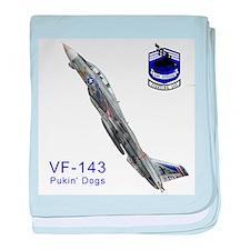 Funny F14 baby blanket