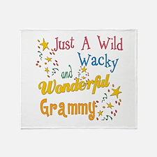 Wild Wacky Grammy Throw Blanket