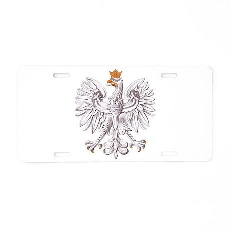 Polish White Eagle Aluminum License Plate