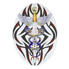 EMT Caduceus Oval Ornament