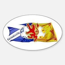 Scotland Football Fashion Sticker (Oval 10 pk)