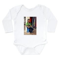 Cambodian Shop Girl Long Sleeve Infant Bodysuit