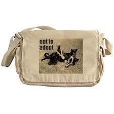 Opt To Adopt Cat Messenger Bag