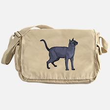 Russian Blue Cat Portrait Messenger Bag