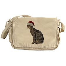 Savannah Cat Christmas Messenger Bag