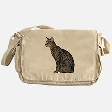 Savannah Cat Messenger Bag