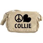 Peace Love Collie Messenger Bag