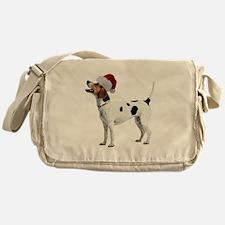 English Foxhound Christmas Messenger Bag