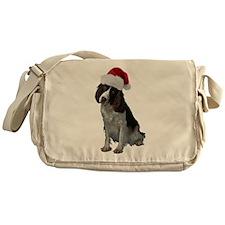 Springer Spaniel Santa Messenger Bag