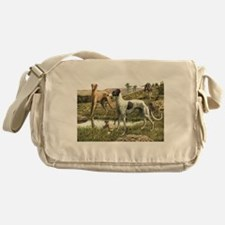 Greyhound Art Messenger Bag