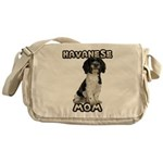 Havanese Messenger Bag
