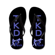 Cute Tae kwon do club Flip Flops