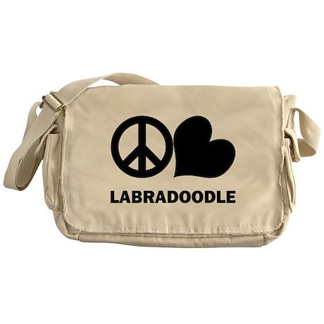 Peace Love Labradoodle Messenger Bag