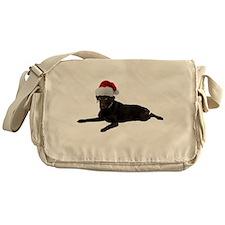 Black Lab Christmas Messenger Bag