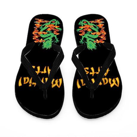 Martial Arts Smoke Fire Dragon Flip Flops