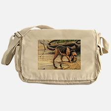 Otterhound Art Messenger Bag