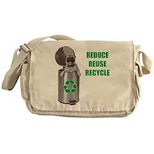 Green Pug Messenger Bag