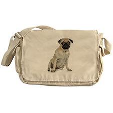 Fawn Pug Messenger Bag