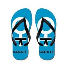 Karate Black Belt Female Flip Flops