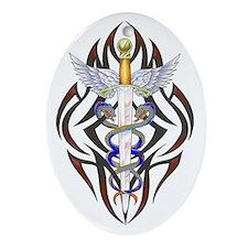 Caduceus Oval Ornament