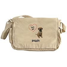 Puggle Lover Messenger Bag
