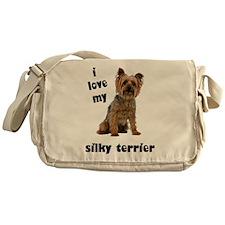 Silky Terrier Love Messenger Bag