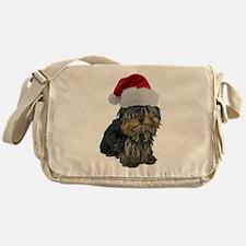 Santa Yorkie Messenger Bag