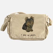 I Love My Yorkie Messenger Bag