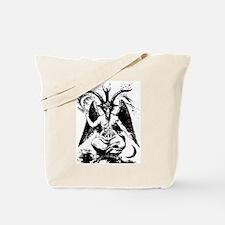 Vintage Black Baphomet Tote Bag