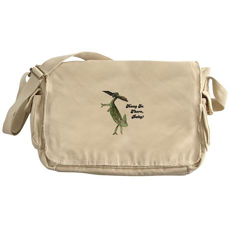 Hang In There Chameleon Messenger Bag