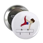 "Cute Gymnast 2.25"" Button"