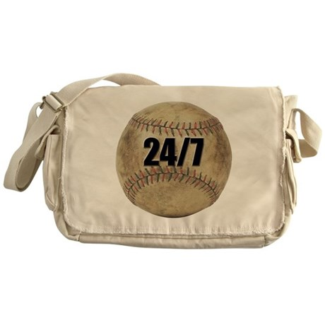 24/7 Baseball Messenger Bag