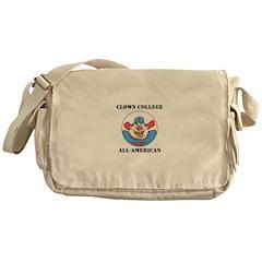 Clown College Football Messenger Bag