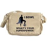 Bowling Superhero Messenger Bag