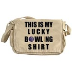 Lucky Bowling Shirt Messenger Bag