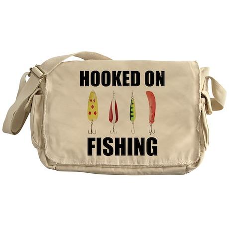 Hooked on Fishing Messenger Bag