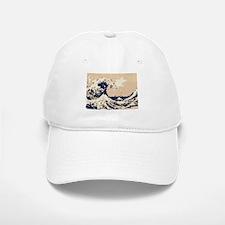 Pixel Tsunami Great Wave 8 Bit Art Baseball Baseball Cap