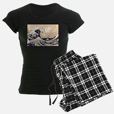 Pixel Tsunami Great Wave 8 Bit Art Pajamas