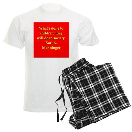 Karl Menninger quote Men's Light Pajamas