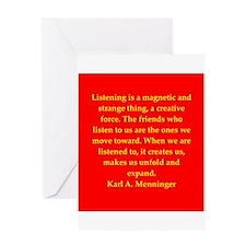 Karl Menninger quote Greeting Card