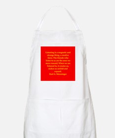 Karl Menninger quote Apron