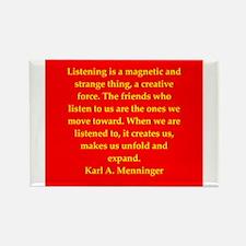 Karl Menninger quote Rectangle Magnet