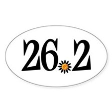 26.2 black orange flower Decal