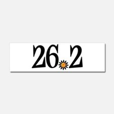 26.2 black orange flower Car Magnet 10 x 3
