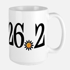 26.2 black orange flower Large Mug