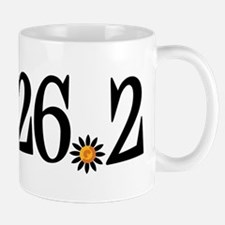 26.2 black orange flower Mug