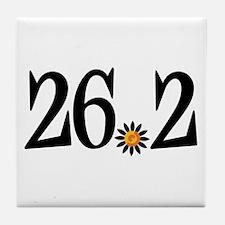 26.2 black orange flower Tile Coaster