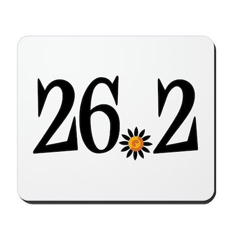 26.2 black orange flower Mousepad