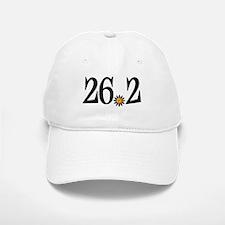 26.2 black orange flower Baseball Baseball Cap